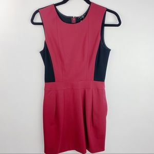 Theory red and black dress size 2